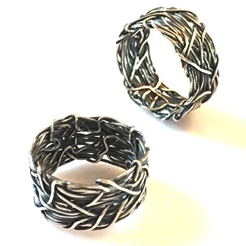Crown of Thorns Sterling Silver Wedding Bands