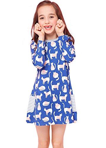 Girls Long Sleeve Floral Dress - 9