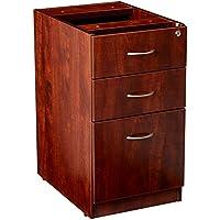 Lorell LLR69604 69000 Series Free Standing Fixed Pedestals, Cherry