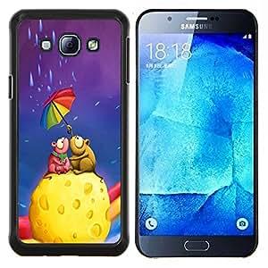 """Be-Star Único Patrón Plástico Duro Fundas Cover Cubre Hard Case Cover Para Samsung Galaxy A8 / SM-A800 ( Ratón lindo Pareja Queso"""" )"""