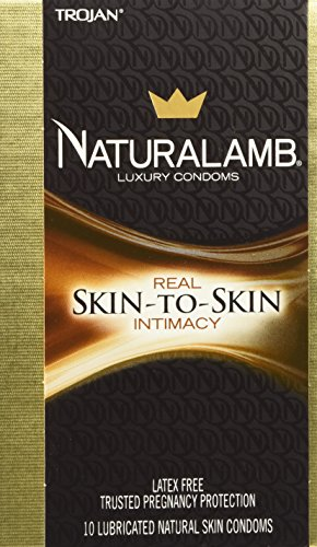 Trojan Naturalamb Luxury Condoms, Latex Free, 10 Count