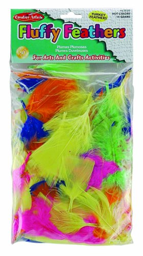 Creative Arts by Charles Leonard Feathers, Turkey, Hot Colors 14 Grams/Bag (63030)