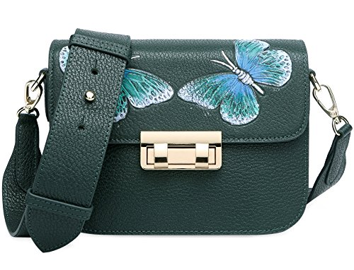 PIJUSHI Women's CrossBody Shoulder Leather Bag Genuine 8001 Green Purses Summer Dark Bag Designer 8003 ZxZqrBAS