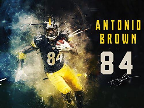 Pittsburgh Steelers Wall Art Print Antonio Brown Home Decor Gift Poster