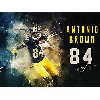 9df8b661ee2 777 Tri-Seven Entertainment Antonio Brown Poster Pittsburgh Steelers Art  Print (24x18)