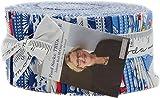 Linzee Kull McCray Feed Sacks True Blue Jelly Roll 40 2.5-inch Strips Moda Fabrics 23300JR