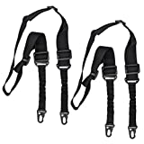 SUMESHA 2 Point Rifle Sling 2 Pack Two Point Gun Sling Adjustable Length for Hunting Shooting Military Exercises Field Game Black