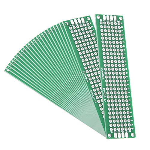 - uxcell 2x8cm Double Sided Universal Printed Circuit Board for DIY Soldering 25pcs