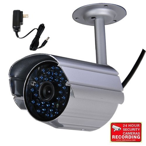 VideoSecu IR Infrared Bullet Security Camera Day Night Vision Home Outdoor CCTV Surveillance 520TVL IR-Cut Filter Switch with Power Supply and Bonus Security Warning Sticker IR808HN AB1 [並行輸入品] B01KBR7LLW