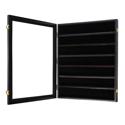 Amazon com: Adjustable Shelf Military Challenge Coin Display Wood