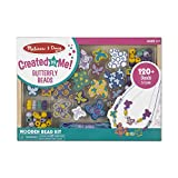 Melissa & Doug Butterfly Friends Bead Set, Arts & Crafts, Handy Wooden Tray, 120 Beads and 5 Colored...