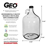 1 Gallon Glass Water Bottle Jug with 38 mm Screw