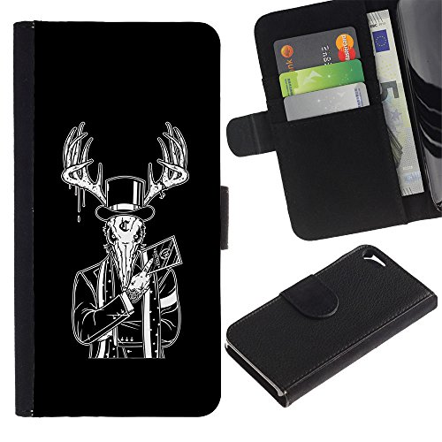 OMEGA Case / Apple Iphone 5 / 5S / OVERCOME EVIL WITH GOOD / Cuir PU Portefeuille Coverture Shell Armure Coque Coq Cas Etui Housse Case Cover Wallet Credit Card