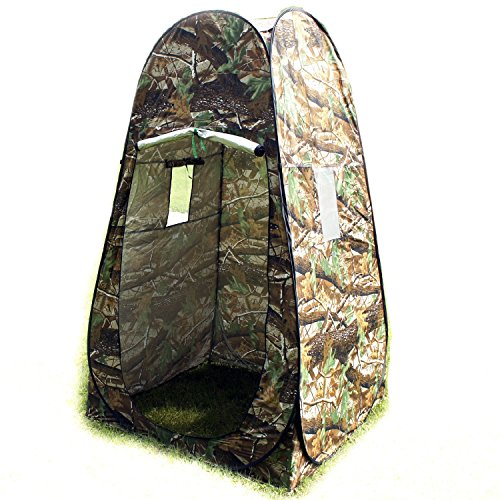 Portable Privacy Shelter Pop up Tent Camping Beach Toilet Shower Changing Room Camouflage with Carrying Bag