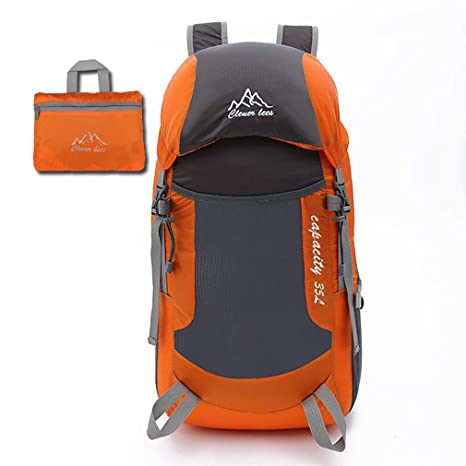 34ada3ee29 Image Unavailable. Image not available for. Color  Trekking Hiking Backpack  Water Resistant Travel Bag Outdoor Camping Backpack Foldable Ackable  Rucksack ...