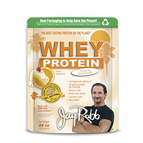 Jay Robb - Grass-Fed Whey Protein Isolate Powder, Outrageously Delicious, Tropical Dreamsicle, 23 Servings (24 oz)