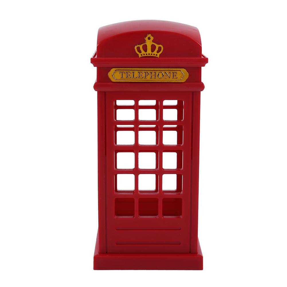 ASHATA Retro London Telephone Booth LED Night Lamp Touch Dimmable Table Desk Light for Bedroom Students Dormitory Home Decoration