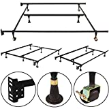 Best Choice Products Metal Bed Frame Adjustable Queen Full Twin Size W/Center Support Platform