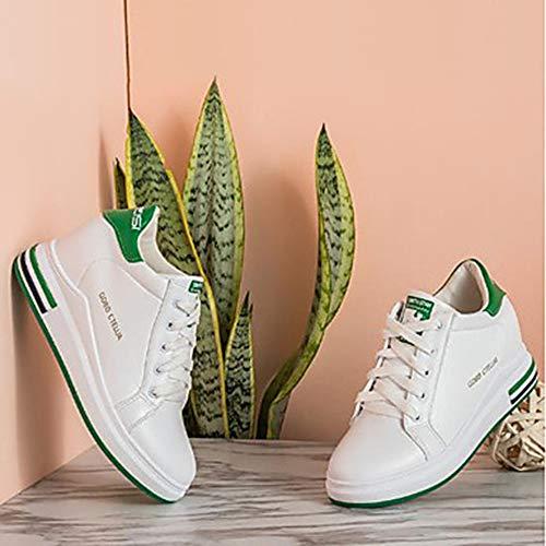 Tonda Zeppa Comoda 5 CN40 PU Nero 5 EU39 Green Scarpe Sneakers Donna Rosa Poliuretano UK6 Punta Per TTSHOES US8 Verde Autunno gqAwBB