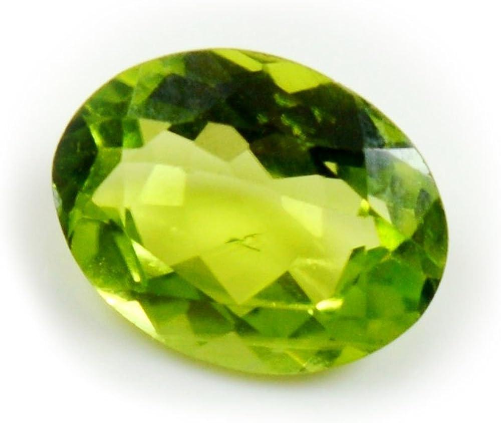 Caratyogi Naturel P/éridot ovale Pierre pr/écieuse 3/carat Courroie pour la confection de bijoux de qualit/é AAA