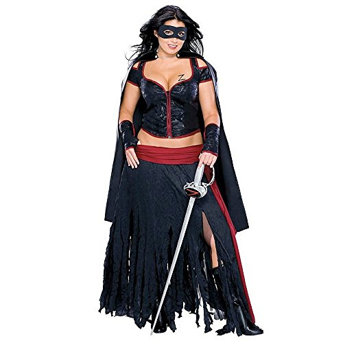 [Lady Zorro Plus Size Adult Costume - Plus Size] (Plus Size Sexy Zorro Costumes)