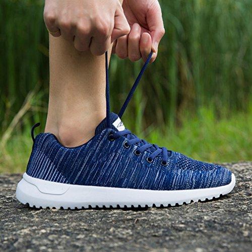 Keezmz Herren Modische Ultra Leichte atmungsaktive Mesh Laufschuhe Wanderschuhe Blau
