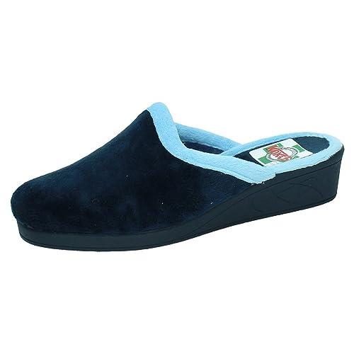 KOKIS 3004 Zapatillas Chinelas Mujer Zapatillas CASA Marino 36