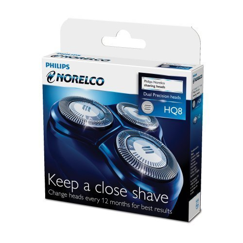 Norelco Spectra Replacement Heads (3 replacement heads for Norelco Spectra Razor - Philips Norelco HQ8 Spectra Tripleheader Replacement Heads)