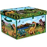Neat-Oh! ZipBin 160 Dinosaur Collector Toy Box & Playset w/ 2 Dinosaurs