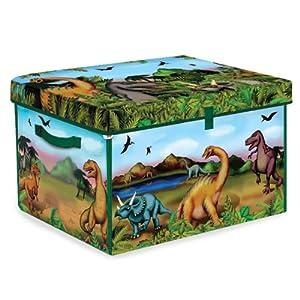 Neat-Oh! ZipBin 160 Dinosaur Collector Toy Box & Playset w/ 2 Dinosaurs - 51PtdI5oGiL - ZipBin 160 Dinosaur Collector Toy Box & Play set w/2 Dinosaurs