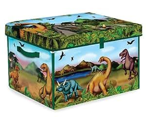 Neat-Oh! ZipBin 160 Dinosaur Collector Toy Box & Playset w/ 2 Dinosaurs