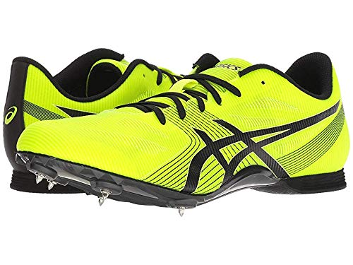 ASICS Men's Hyper MD 6 Safety Yellow/Black 11 D US (The Best Track Running Shoes)