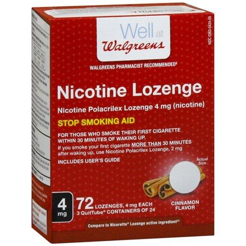 Walgreens Nicotine Lozenge, 4 mg, Cinnamon, 72 ()