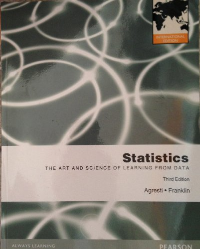Statistics : The Art and Science of Learning from Data Pie No Us Sale