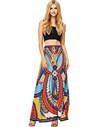 Womens Juniors Bohemian Print Maxi Skirt
