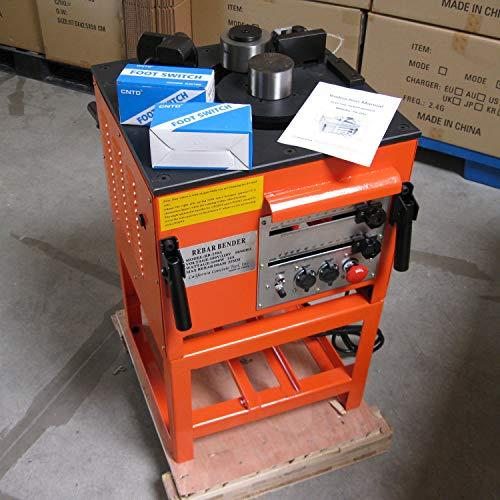 CCTI Electric Rebar Bender – Heavy Duty Bending Up to #8(1 inch/25 mm) Grade 60 Rebar(Model: RB-258A)