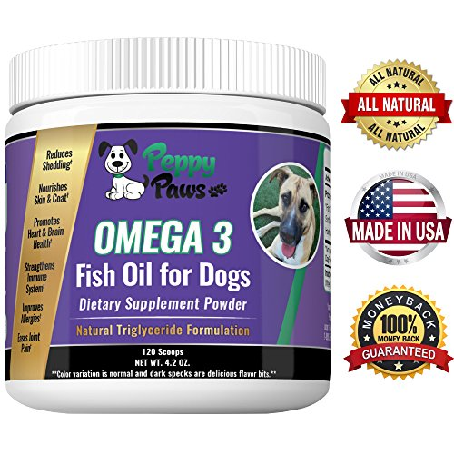 Omega 3 for Dogs, Easy to Use Powder, No Clogged Pumps, Messy Oil Spills or Bad Tasting Chews, Dog Omega 3 For Healthy Heart, Immune System, Allergy Itching, Dog Arthritis Pain Yummy Bacon Beef Flavor