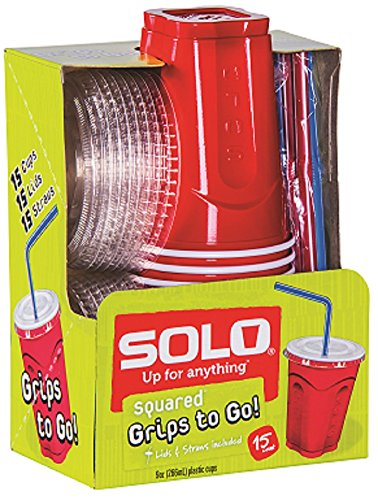 Solo Plastic Cup Straw Combo product image