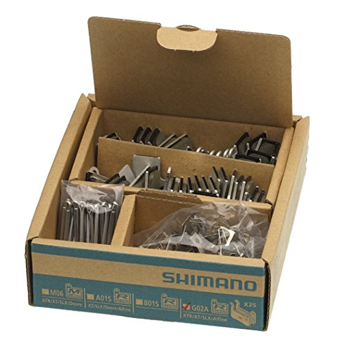 (SHIMANO G02A Resin Disc Brake Pad, 25 Pairs, for XTR, XT, SLX, Road R517)