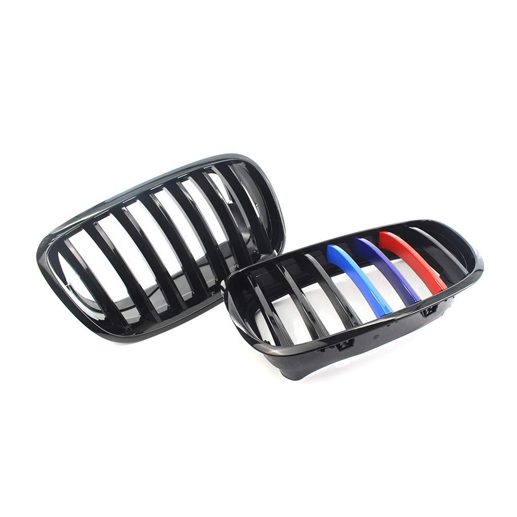 heacker 1 Paio Gloss Black Anteriore M Colore Kidney Grill per X5 X6 X5M X6M E70 E71 08-13