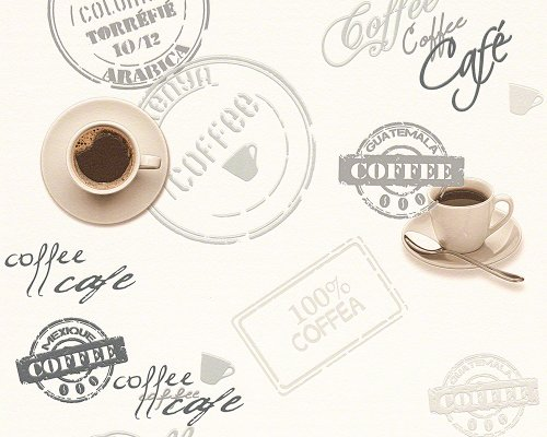 A.S. Création Tapete Faro 4, Mustertapete Coffee, Küchentapete, beige, braun, creme, 943081