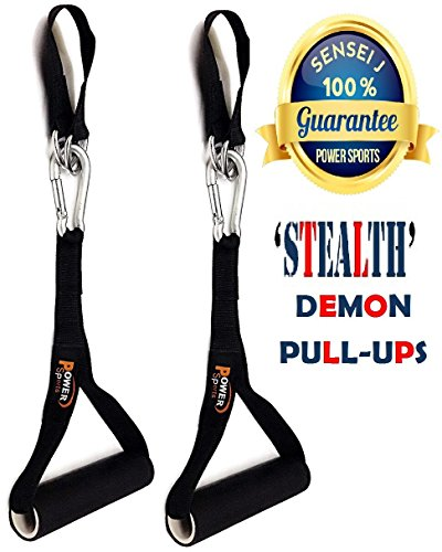 Gymnastics 'DEMON' PULL-UP Handles Pull-Ups Hanging Gym Straps/Handles for Men/Women, AB Handles, Pull Up Handles With Hook, Pull-ups Chinning Bar Attachment