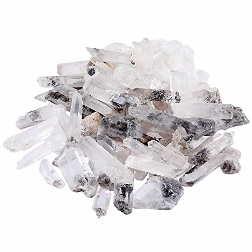 rockcloud 1/2 lb Natural Rough Rare Tibetan Quartz Point for Jewelry Making
