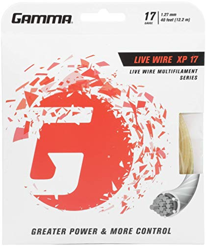 Gamma Live Wire XP 17G Tennis String, Natural ()