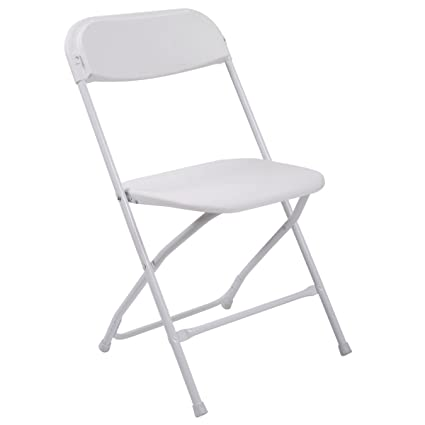 White Plastic Folding Chairs.Amazon Com 10 Pack Commercial Wedding Quality Stackable
