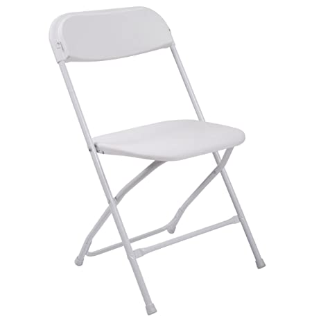 Charmant LAZYMOON Set Of 8 White Plastic Folding Chairs Commercial Quality Stackable  Chairs