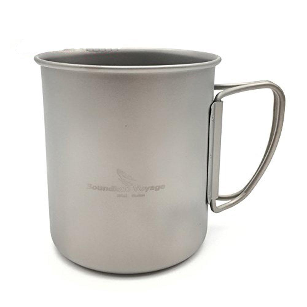 Igo Online Shop 300ml Titanium Cup Folding Mug Camping Cup Without Cover by Igo Online Shop