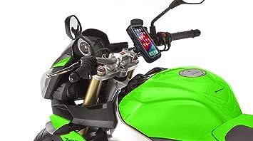 Soporte movil moto con cargador carga rapida 2.1A funda impermeable universal valida telefonos hasta 6.5