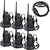 (US) BaoFeng BF-888S Two Way Radio with Built in LED FlashLight (Pack of 6) + USB Programming Cable (1PC)