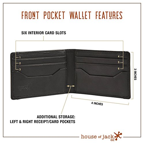 Wallet HOJ BIFOLD Co Deacon Bifold Grain ID Pocket Front Full Clip Wallet Leather Money TTBOw1qH